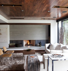 modern family room by Capoferro Design Build Group