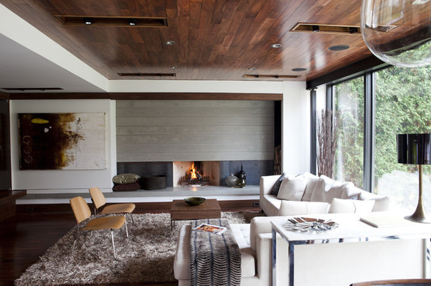 Contemporary Family Room by Capoferro Design Build Group