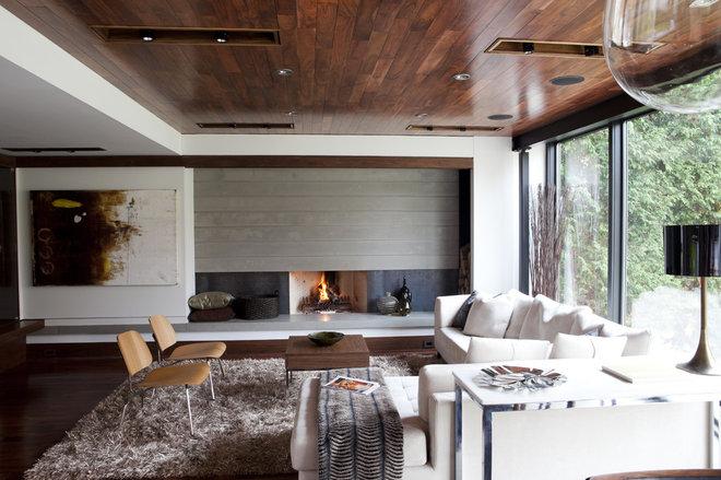 Contemporary Family Room by Capoferro Design Build Group