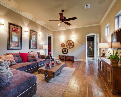 Rustic Molding Home Theater Design Ideas Remodels Photos