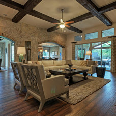 Traditional Family Room by Linfield Design Associates