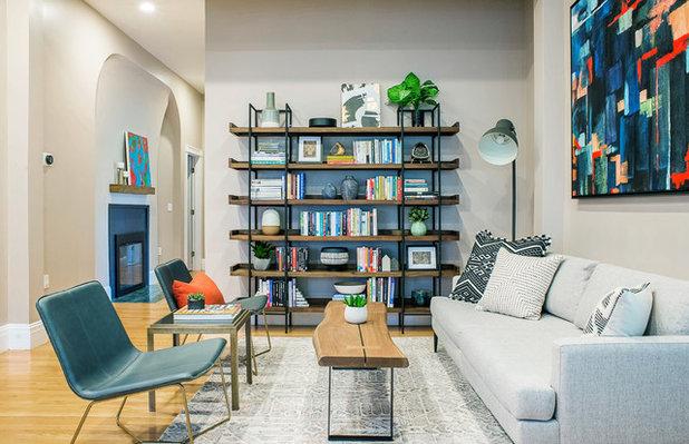 Contemporary Family Room by ZAZ STUDIO