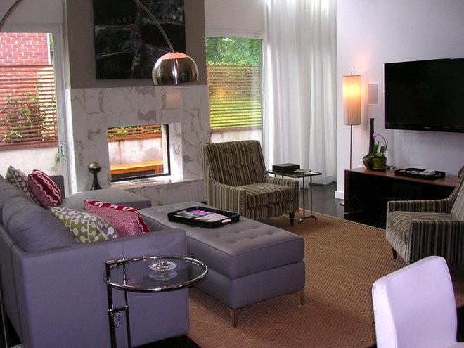 Modern Family Room Modern Atlanta House Tour/Becky Harris