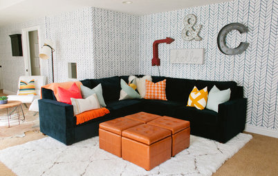 Room of the Week: A Bright and Colourful Basement Makeover
