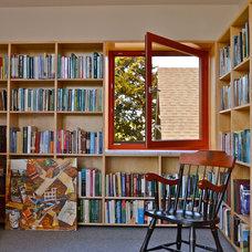 Contemporary Home Office by Paul Michael Davis Design
