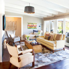 Transitional Family Room by About:Space, LLC