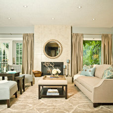 Transitional Family Room by Modern Country Interiors