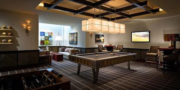 Contemporary Family Room by Harte Brownlee & Associates Interior Design