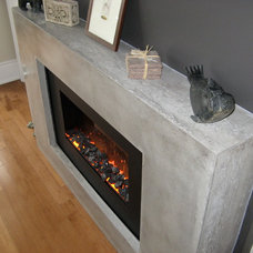 Modern Fireplaces by Concrete Elegance Inc.