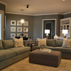 Modern Family Room by Lilli Design