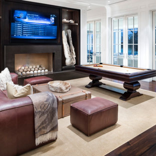 Inspiration for a modern family room remodel in Austin