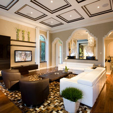 Modern Family Room by Britto Charette Interiors - Miami Florida