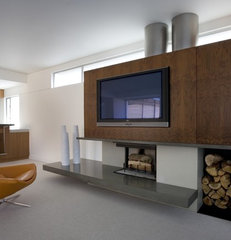 modern family room by Concreteworks