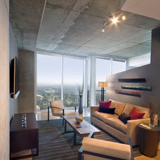 Modern Family Room by CU-Interiors