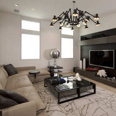 modern media room by David De La Garza / ZURDODGS