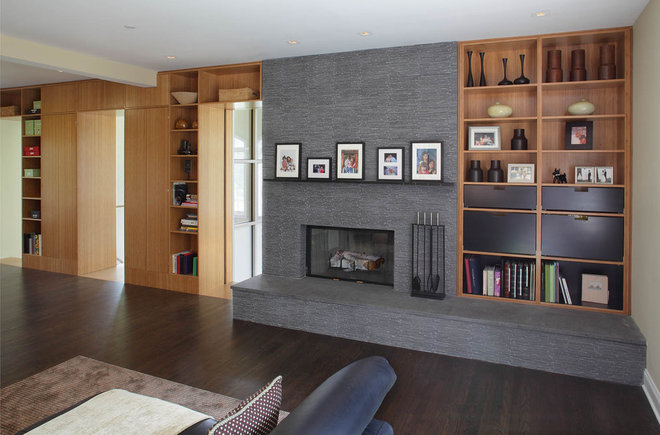 modern family room by Eisner Design LLC