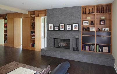 8 Artfully Asymmetrical Fireplaces