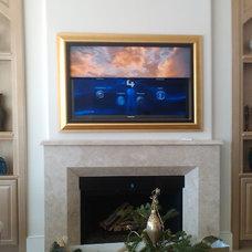 Modern Family Room by Leon Speakers, Inc.