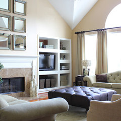 modern family room by Karen Davis Design