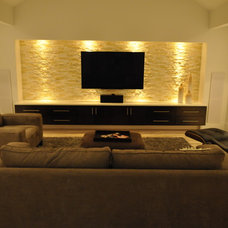 Modern Family Room by Modern Custom Homes, LLC