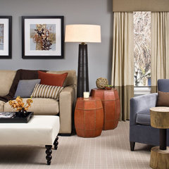 modern family room by Rachel Reider Interiors