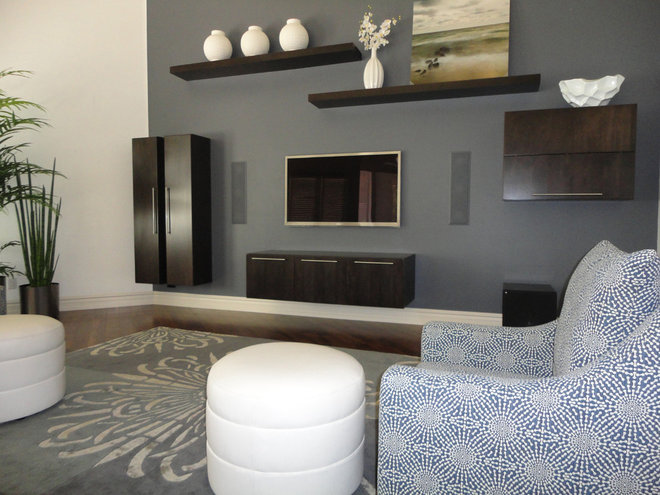 Contemporary family room by s interior design - Modern home color palette ...