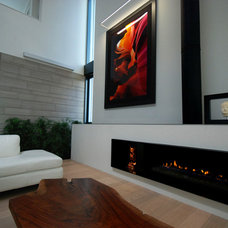 Modern Family Room by The Fireplace Specialist