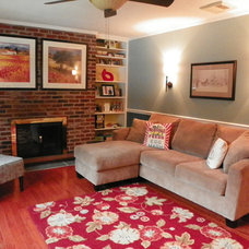 Eclectic Family Room by Amy Cuker, MBA, LEED AP