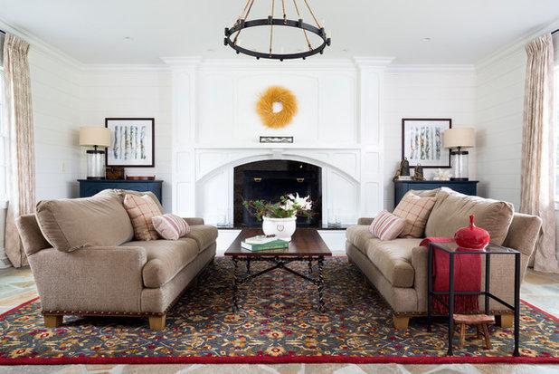 Farmhouse Family Room by Haus Interior Design
