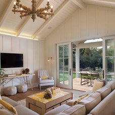 Farmhouse Family Room by Modern Organic Interiors