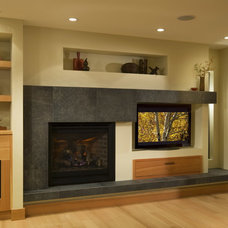 Asian Family Room by RemodelWest