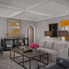 Transitional Family Room by Beckwith Interiors