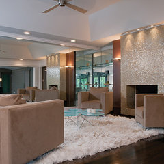 modern family room by Burns Century Interior Design