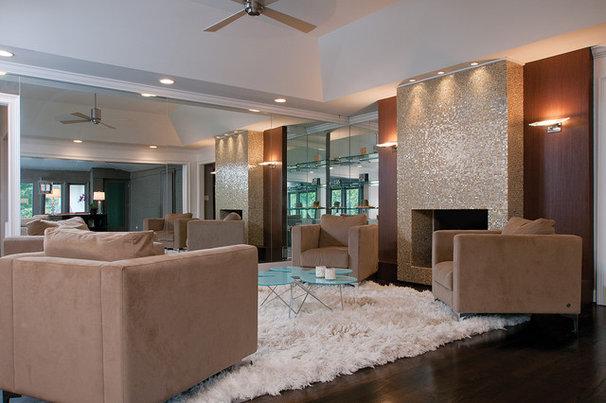 Modern Family Room by Burns Century Interior Design