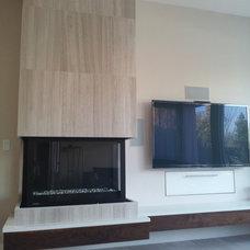 Modern Family Room by Creative Eye Design + Build, LEED AP, CGBP