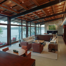 Modern Family Room by John Harrison Jones Architect