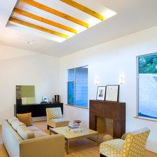 Modern Family Room by Allwood Construction Inc
