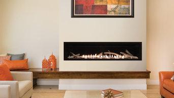 Modern Linear Fireplace - White Mountain Hearth