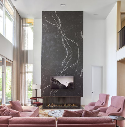 Contemporary Family Room by David Small Designs