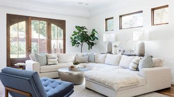 Modern Mediterranean Family Room- Santa Monica, California
