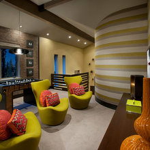 Colorful game rooms