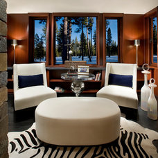Contemporary Family Room by IMI Design, LLC