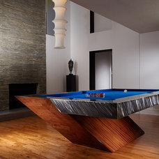 Modern Family Room by Mitchell * Exclusive Billiard Designs *