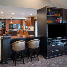 Modern Family Room by Tobias Design LLC