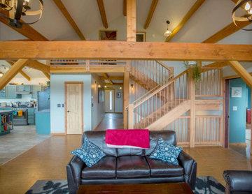 Modern Timber Frame Farmhouse