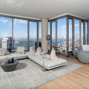 Modern TV lift furniture hides TV in stunning New York Condo Tower