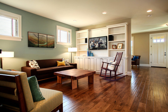 Traditional Family Room by nicole helene designs