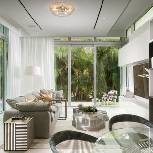 Inspiration for an eclectic family room remodel in Miami