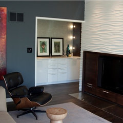 modern media room by Wrightworks, LLC