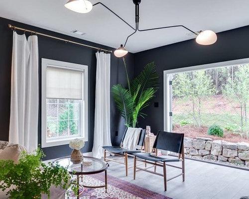 wohnzimmer mit vinylboden und schwarzer wandfarbe ideen. Black Bedroom Furniture Sets. Home Design Ideas